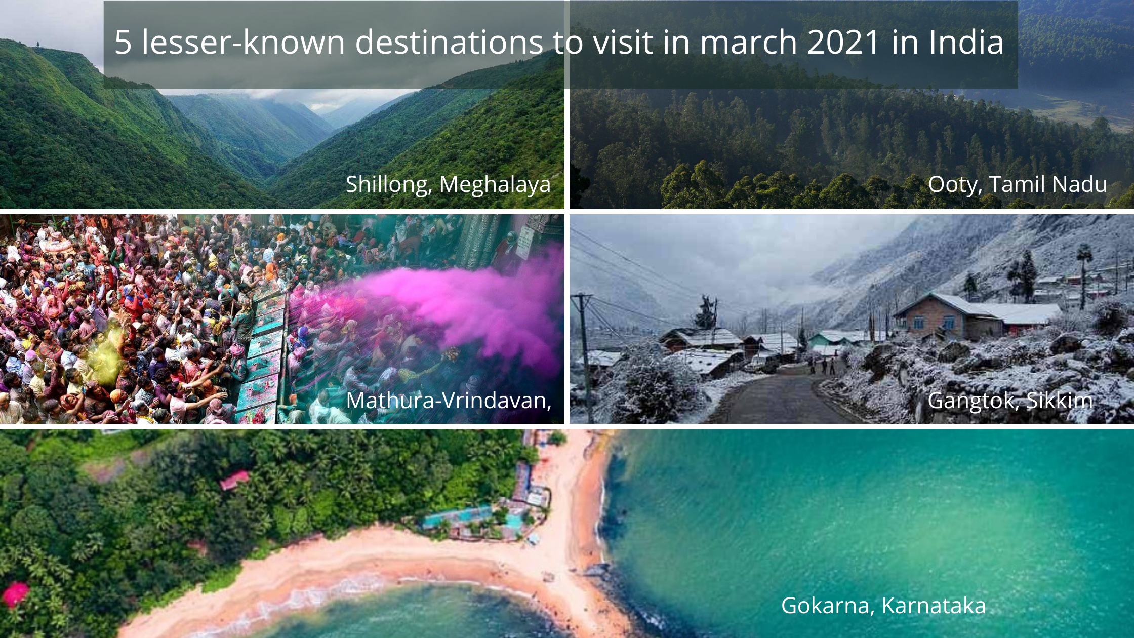 5 lesser known destinations to visit in march 2021 in India