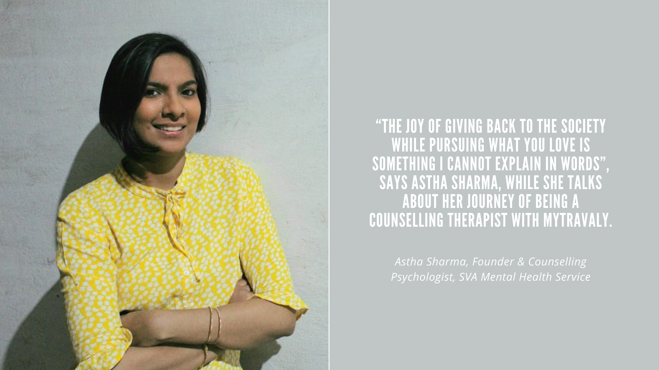 A journey of self-believe is how Astha Sharma's story can be defined